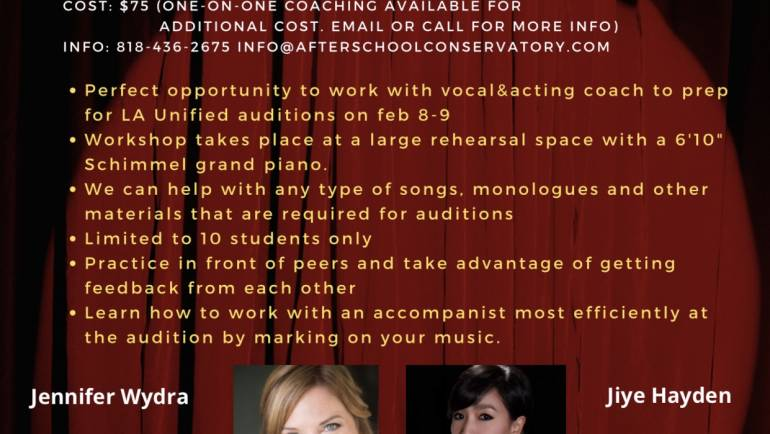 LA unified college audition prep workshop